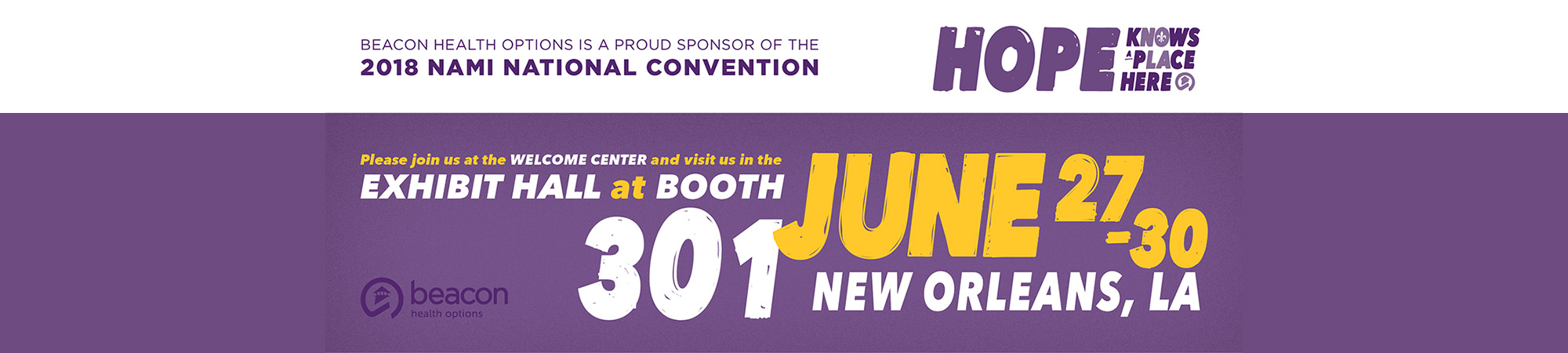 2018 NAMI National Convention in New Orleans, June 27-30. Click for more info.