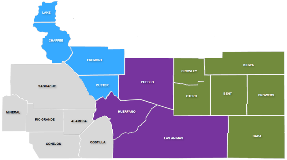 Health Colorado - Join Our Network Region 4 Map